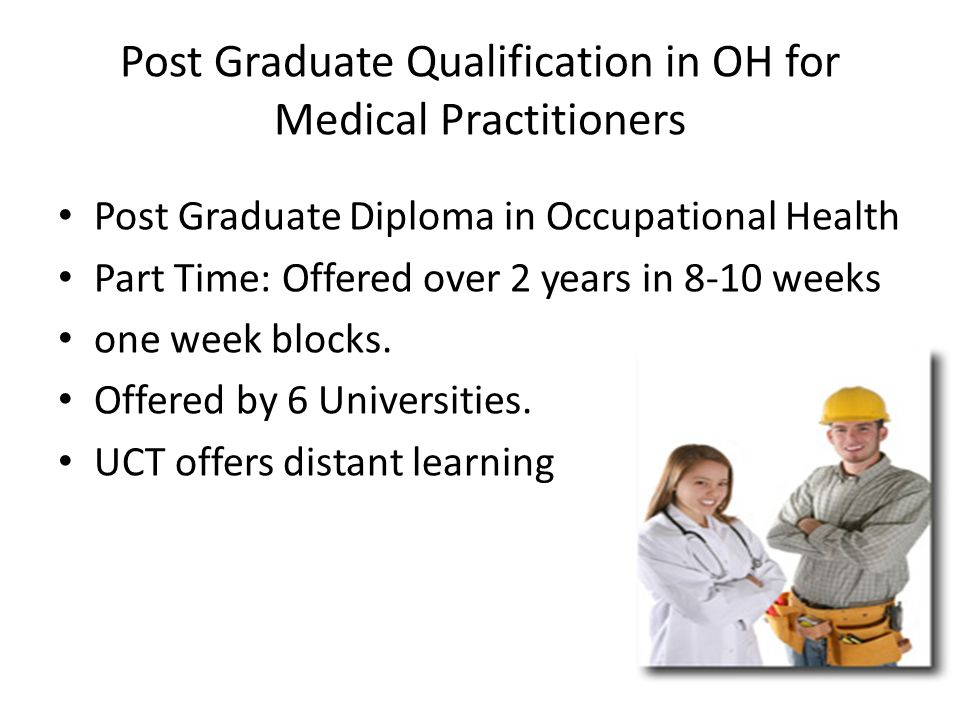 Post Graduate Qualification in OH for Medical Practitioners