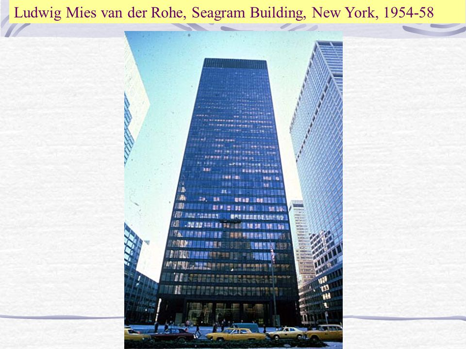20th century architecture ppt video online download for Seagram building ppt
