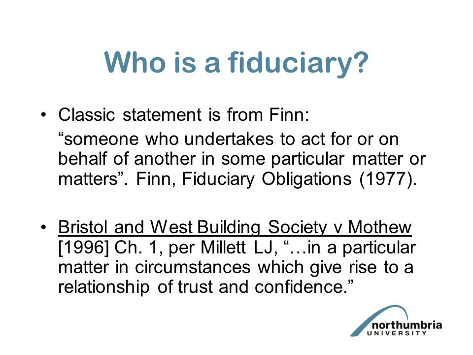 trust and fiduciary relationship