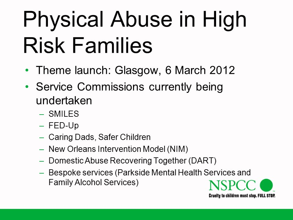 Physical Abuse in High Risk Families