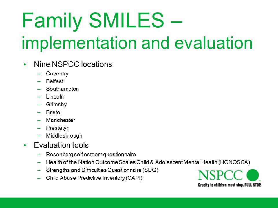 Family SMILES – implementation and evaluation