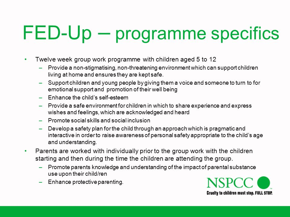 FED-Up – programme specifics