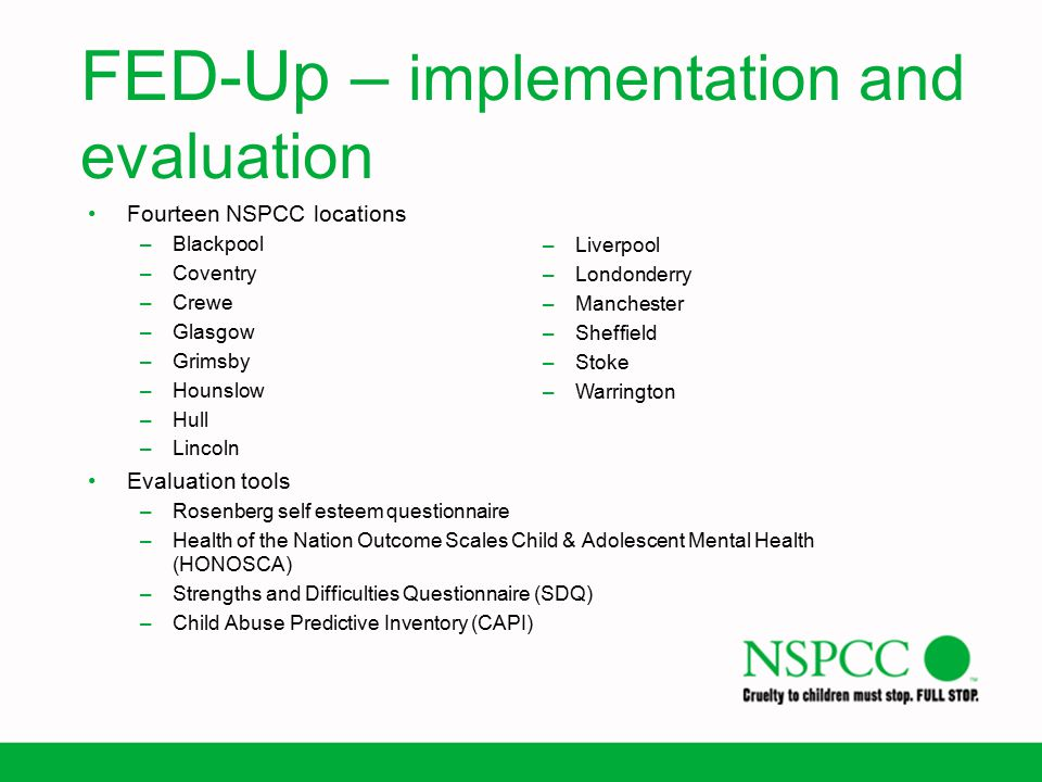 FED-Up – implementation and evaluation