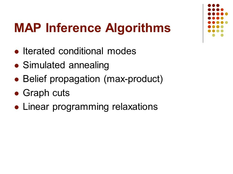 MAP Inference Algorithms