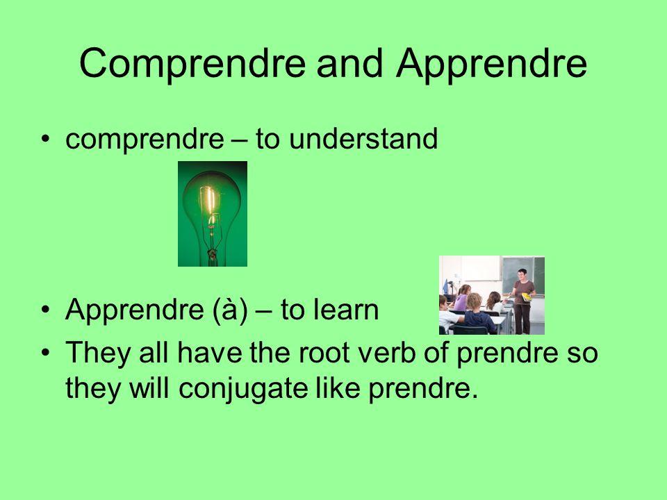 Comprendre and Apprendre