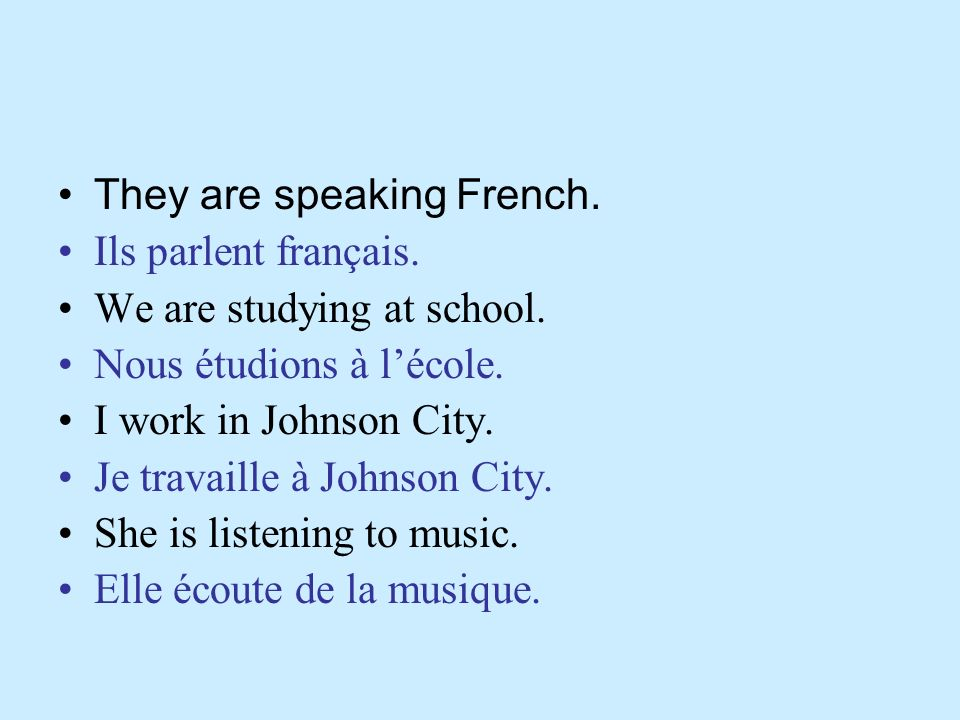 They are speaking French.