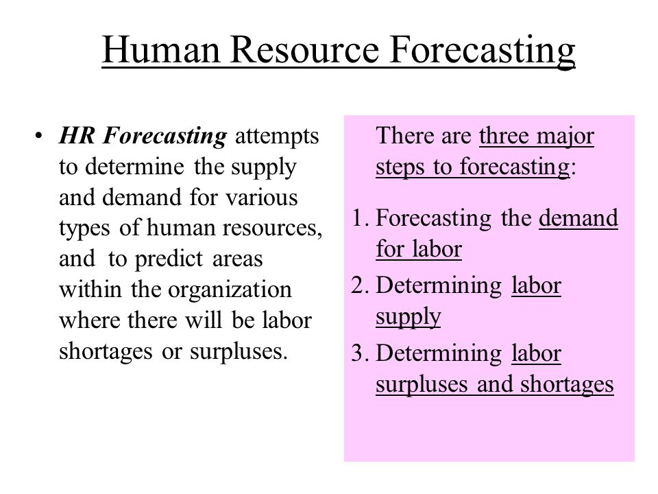the process of human resource planning ppt human resource forecasting