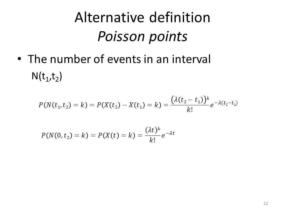 Alternative definition Poisson points