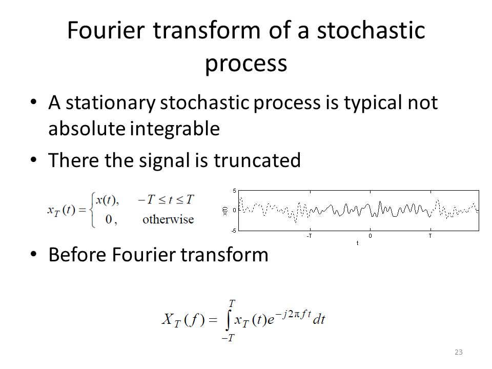 Fourier transform of a stochastic process
