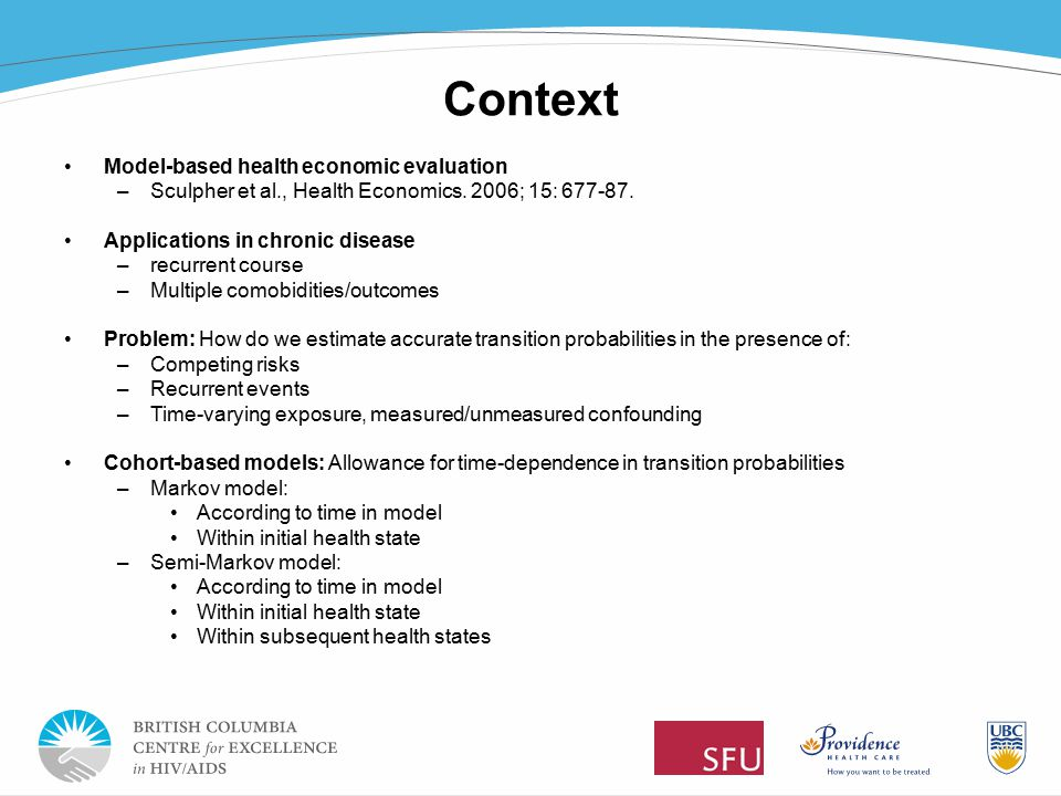 Time To Event Analytic Methods For Health Economic Evaluation