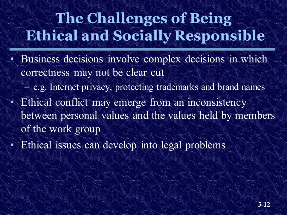ethical and socially responsive business For these firms, csr and sustainable development (sd) do not relate exclusively to their leaders' ethical orientation of the formulation of corporate policy this instability shook confidence in america's institutional framework (i1), spawning a wave of social criticism, and businesses directly bore the brunt of this backlash.
