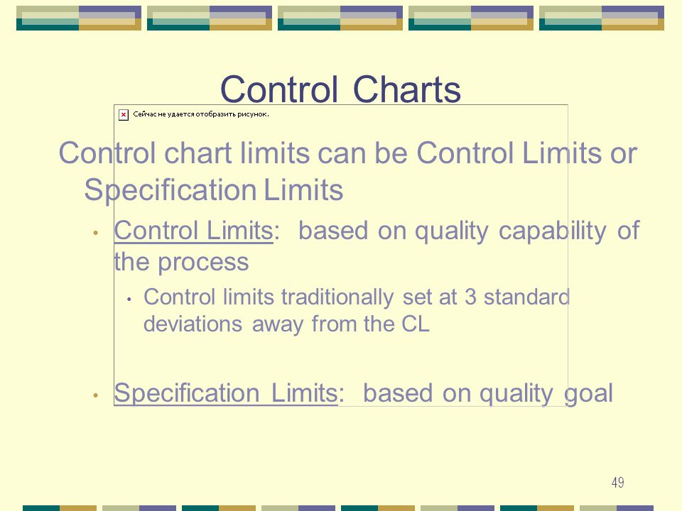 relationship between specification limits and control chart