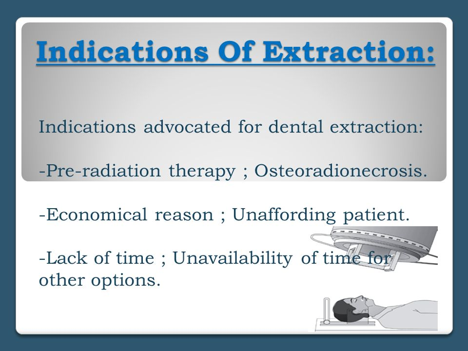 Indications Of Extraction: