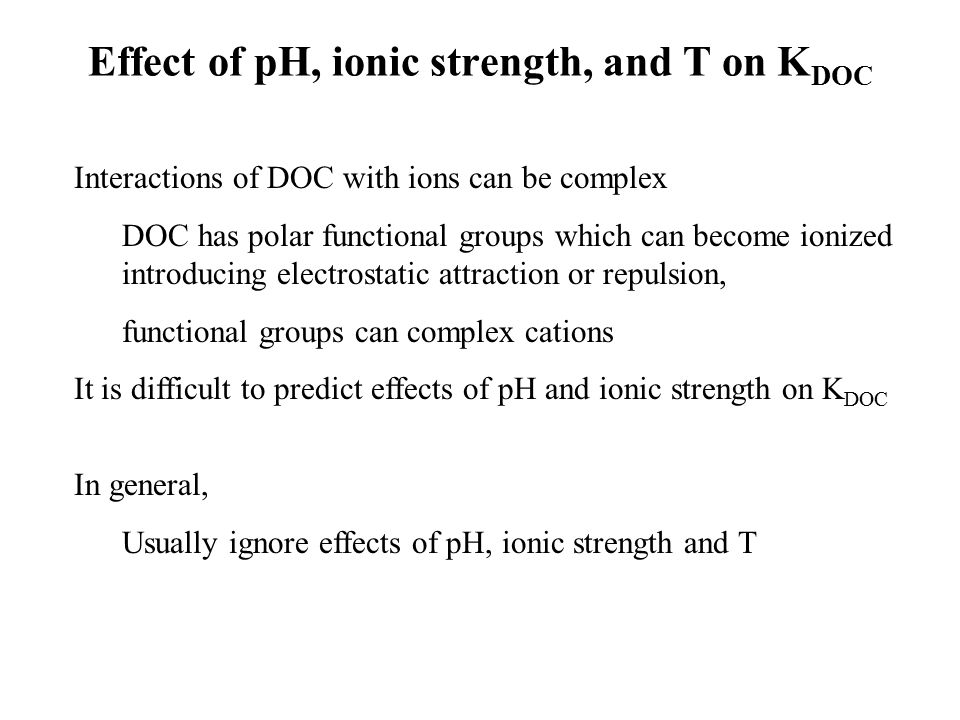 the effect of ionic strength on Chem 321 lecture 11 - chemical activities 10/3/13 student learning objectives figure 82 effect of ionic strength on activity coefficients the difference between the activity of solute ion an (a a) and its formal.