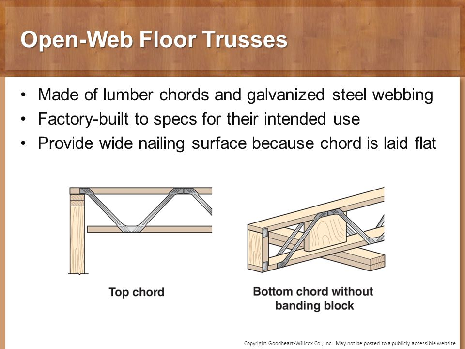 10 chapter floor framing 10 chapter floor framing ppt for Open web trusses