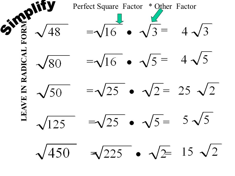 9.3 Simplifying Radicals. - ppt video online download