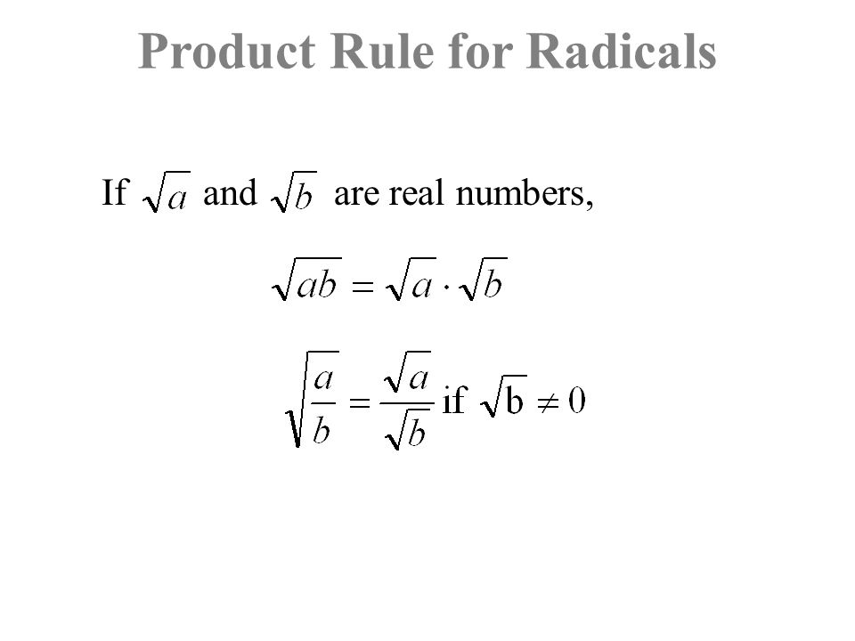 Product Rule for Radicals