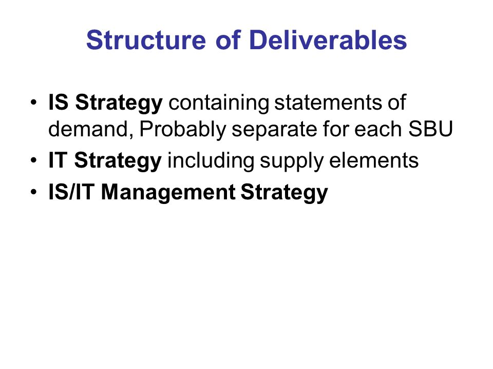 DEVELOPING an IS/IT STRATEGY: ESTABLISHING EFFECTIVE PROCESSES ...