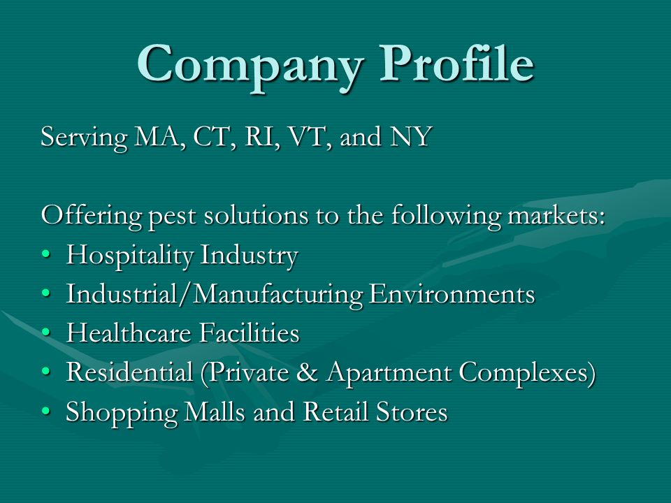Company Profile Serving MA, CT, RI, VT, and NY