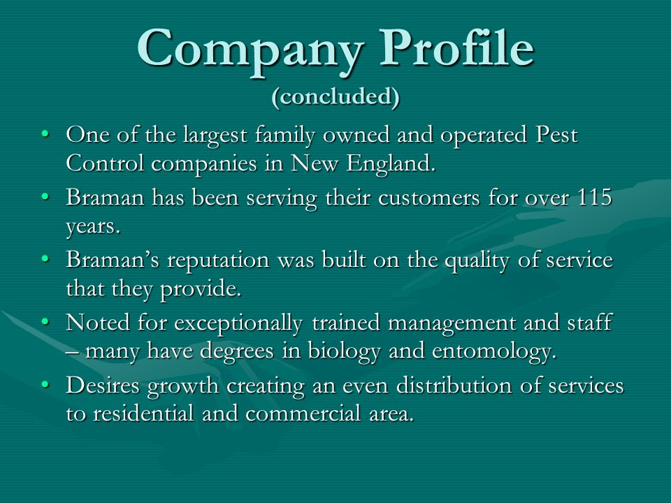 Company Profile (concluded)