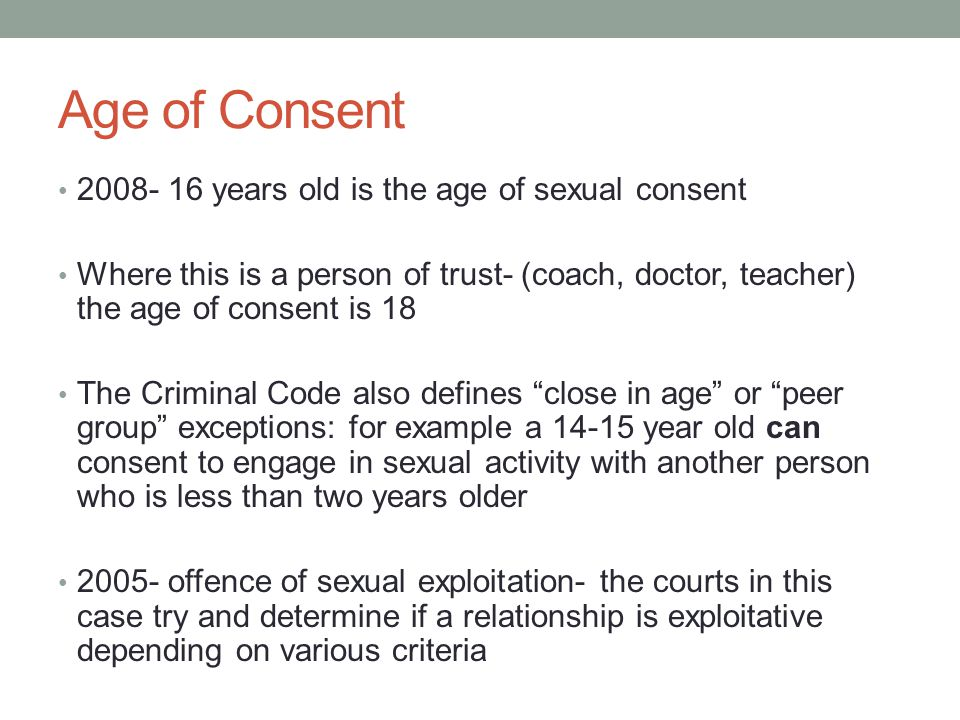 Age of Consent years old is the age of sexual consent