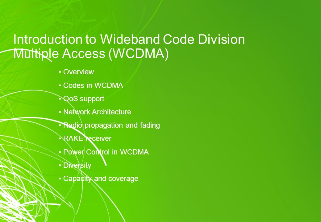 wideband code division multiple access pdf