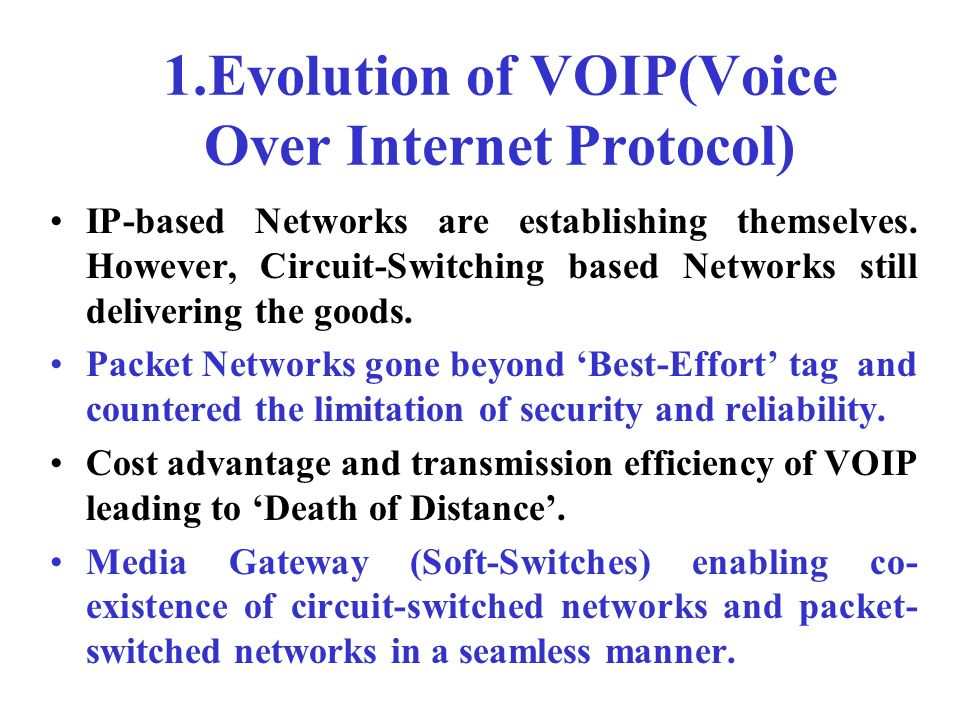 voice over internet protocol pdf