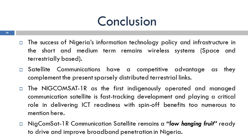 Satellite Based Broadband In Nigeria Prospects And