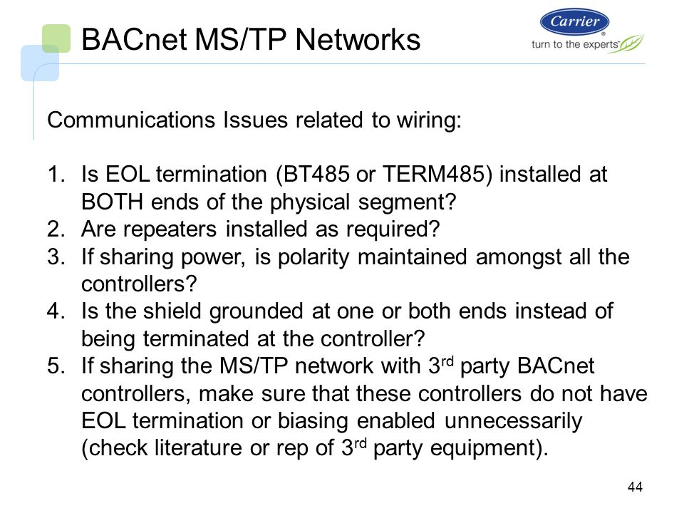 i-vu open system bacnet ms/tp networks bus wiring. - ppt ... mh ms ops5m wiring diagram lutron occupancy sensor switch bacnet ms tp wiring guide #5
