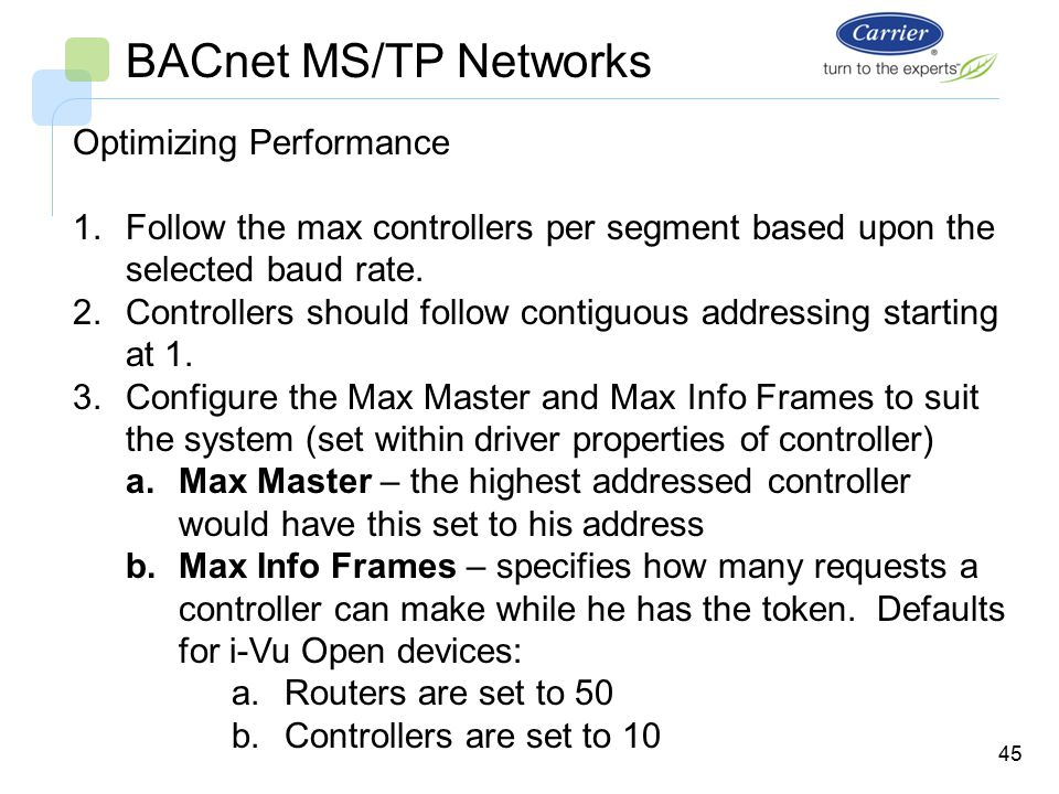 i-vu open system bacnet ms  tp networks bus wiring