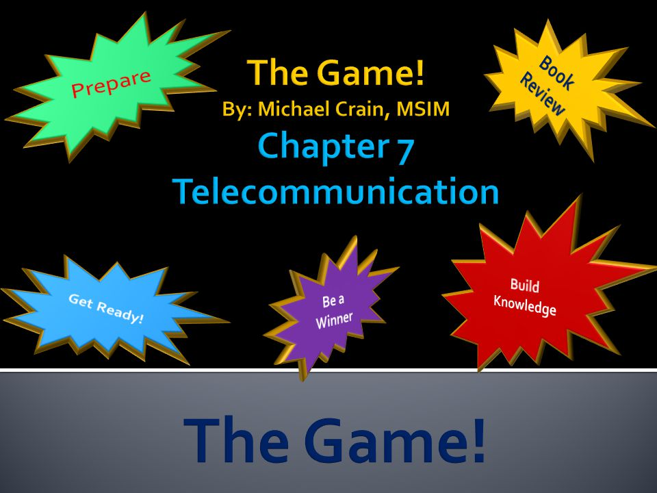 the game! by: michael crain, msim chapter 7 telecommunication, Powerpoint templates