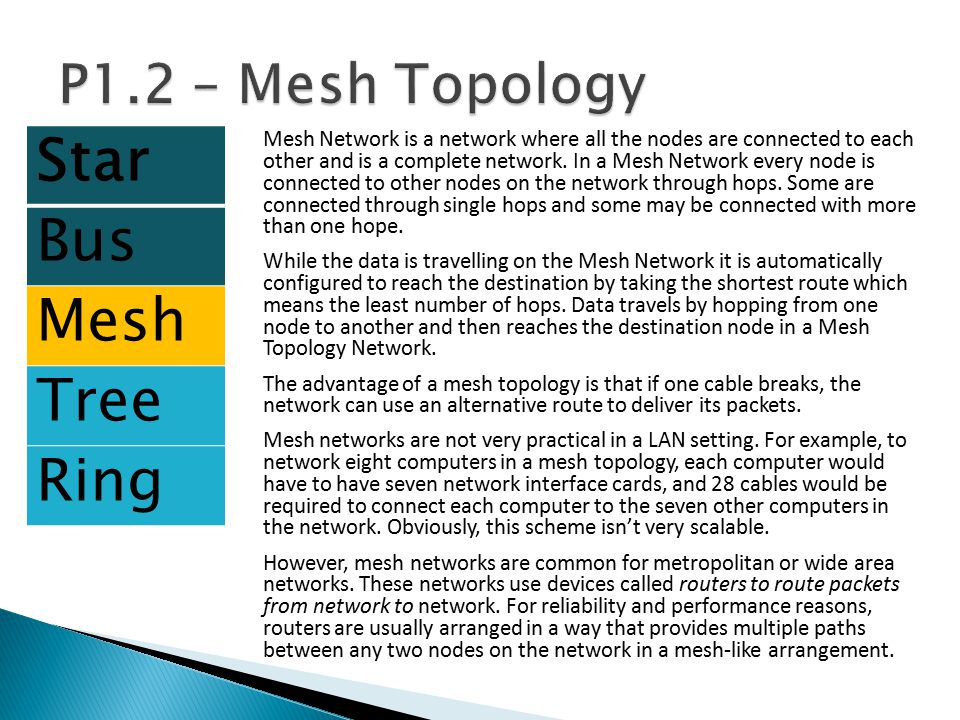 Star Bus Mesh Tree Ring P1.2 – Mesh Topology