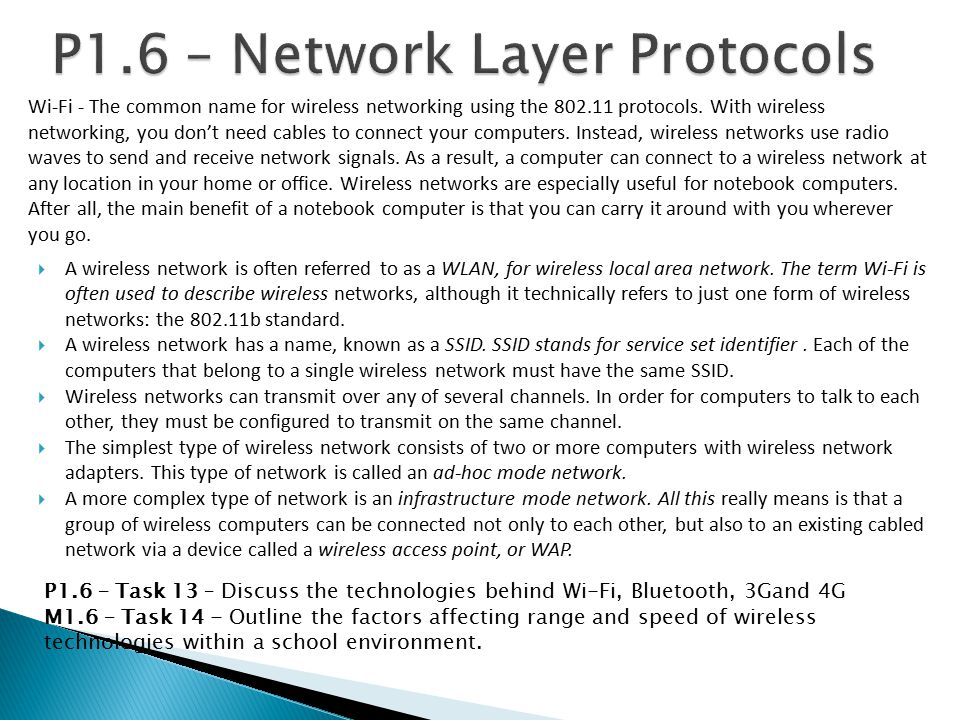 P1.6 – Network Layer Protocols