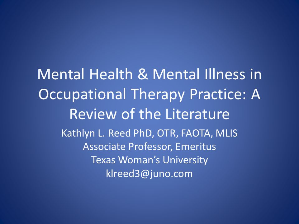 mental health literature review Mental health and the ndis: a literature review an examination of the current state of evidence relating to the impact of psychosocial disability on the context of.