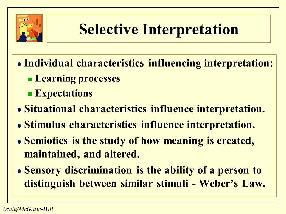 Selective Interpretation