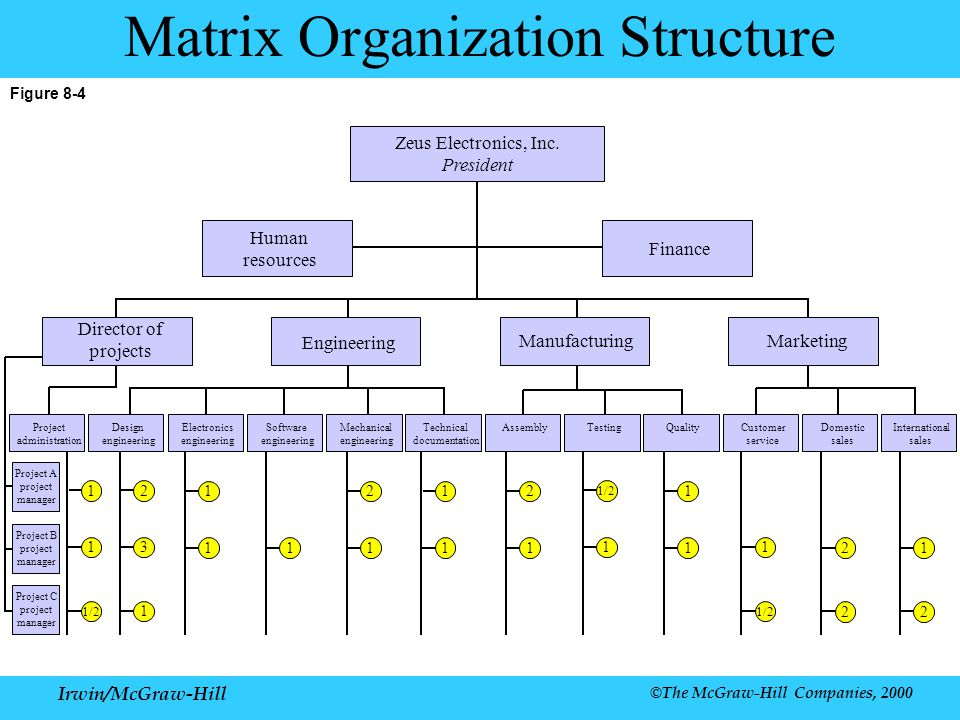Mechanical Engineering Org Chart : Chapter organization irwin mcgraw hill ppt download