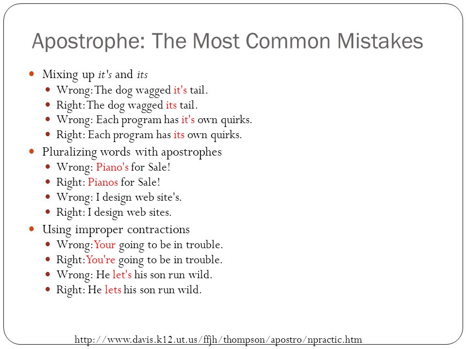 Apostrophe: The Most Common Mistakes