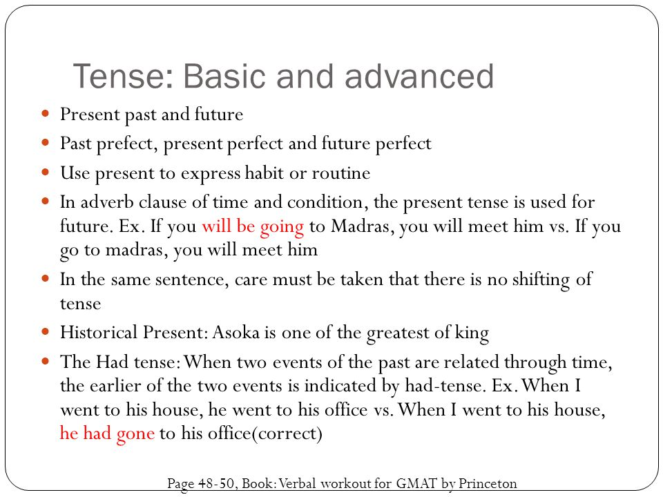 Tense: Basic and advanced