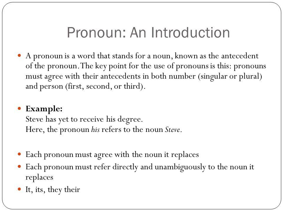 Pronoun: An Introduction