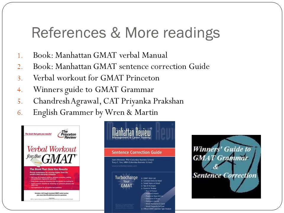 References & More readings