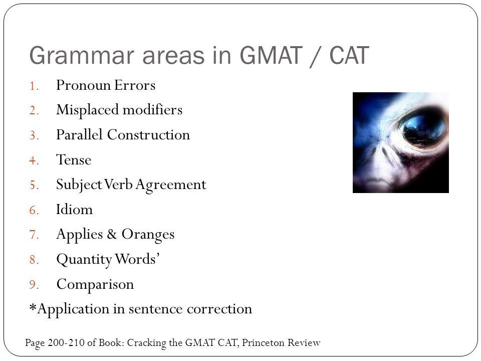 Grammar areas in GMAT / CAT