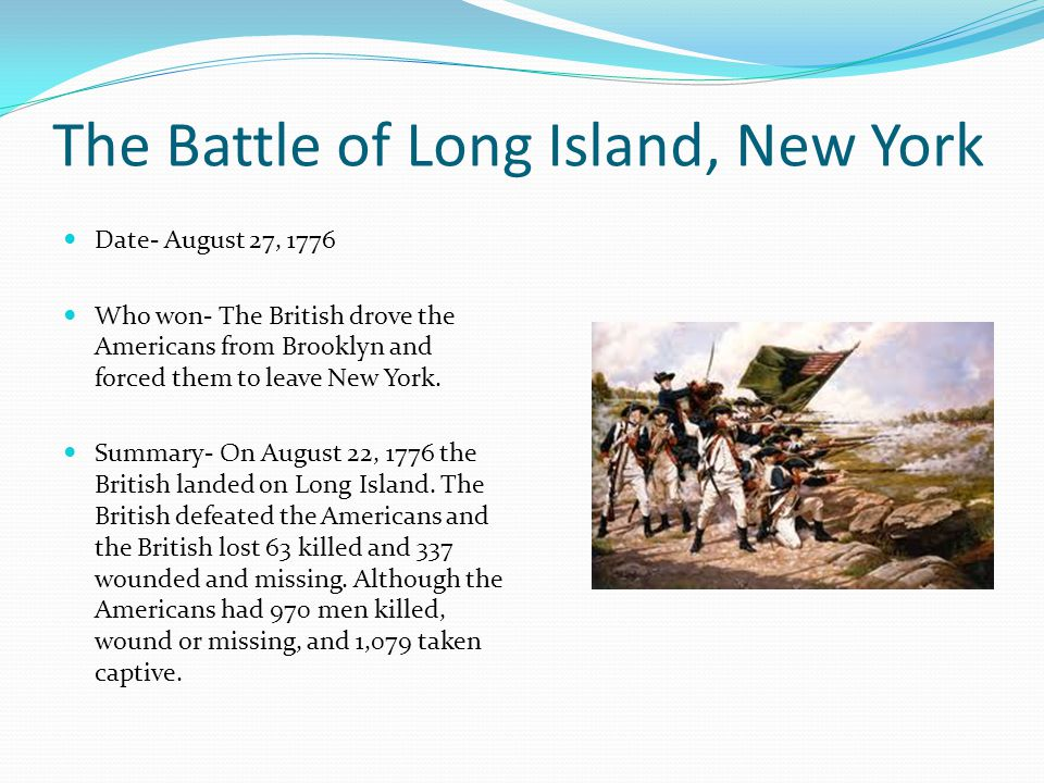Who Led The British In The Battle Of Long Island