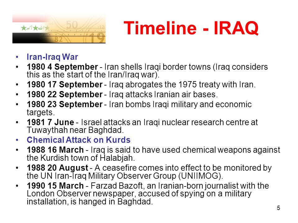 an introduction to the history of the war in iraq The iraq war (2003- ) introduction the iraq war was the first major demonstration of the so-called bush doctrine, named for george w bush, the president primarily associated with it initially laid out in the aftermath of the september 11 attacks, the doctrine, which implicitly repudiated the weinberger-powell doctrine [please say what this is.