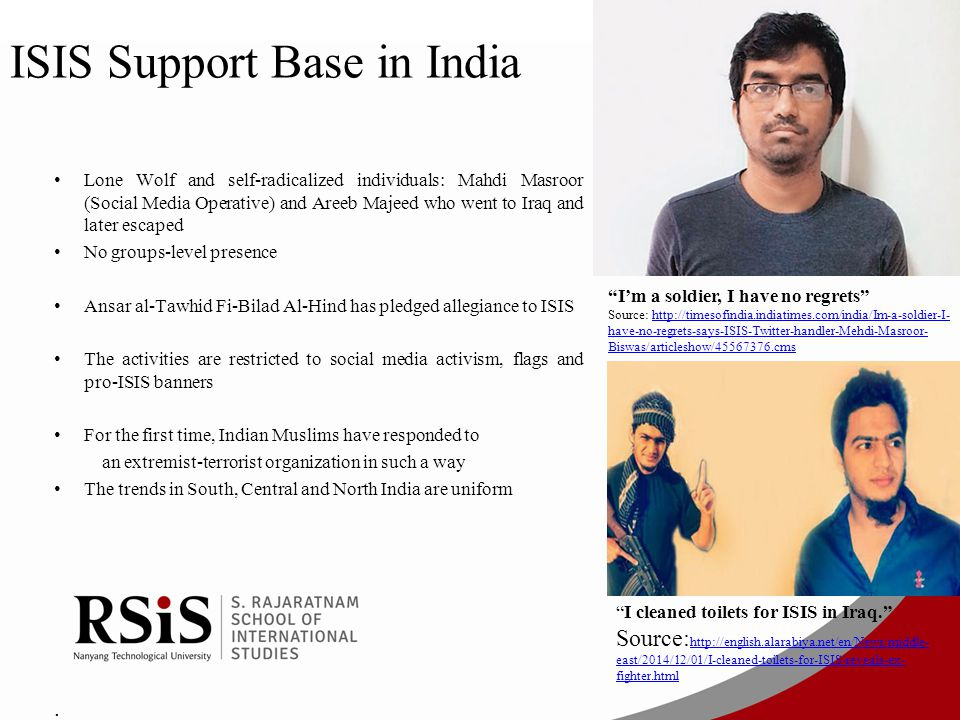 ISIS Support Base in India