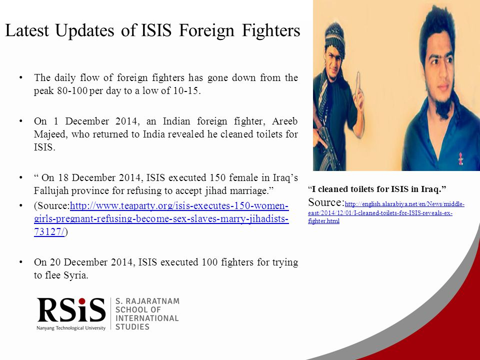 Latest Updates of ISIS Foreign Fighters