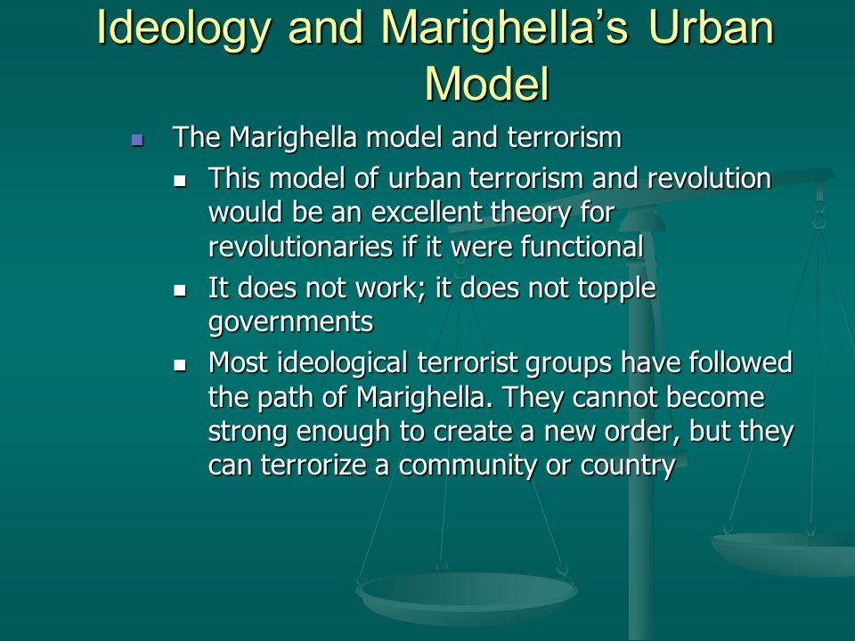 Chapter twelve ideological terrorism ppt download ideology and marighellas urban model ccuart Images