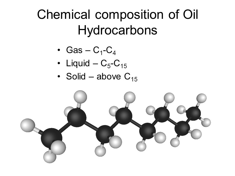 Chemical composition of Oil Hydrocarbons