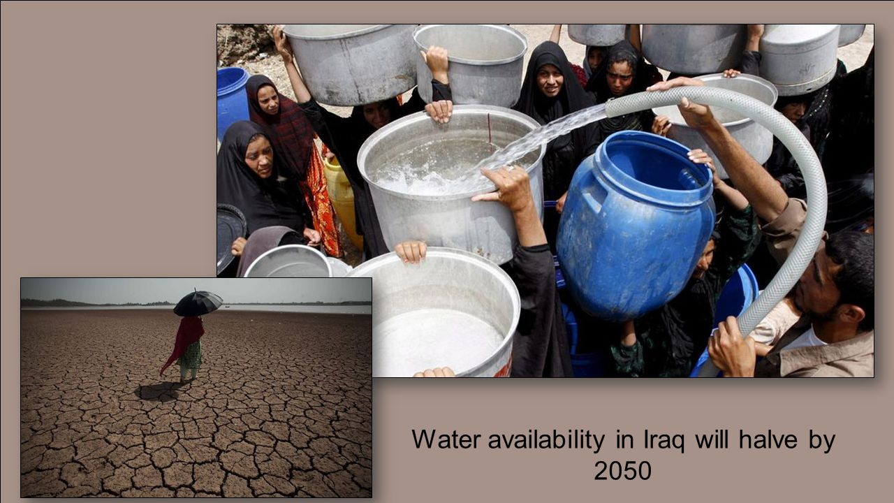 Water availability in Iraq will halve by 2050