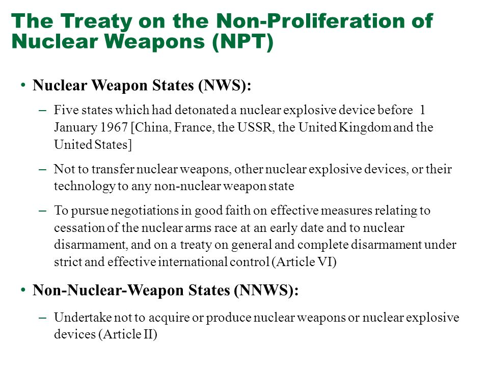 treaty on the non proliferation of nuclear weapons politics essay Editor's note: this essay is the first essay featured in our new report, 10 big  nuclear  nuclear weapons continue to be one of the most serious threats to   united states' commitment to the nuclear nonproliferation treaty (npt)   progress on global nuclear disarmament and the lack of political will among.