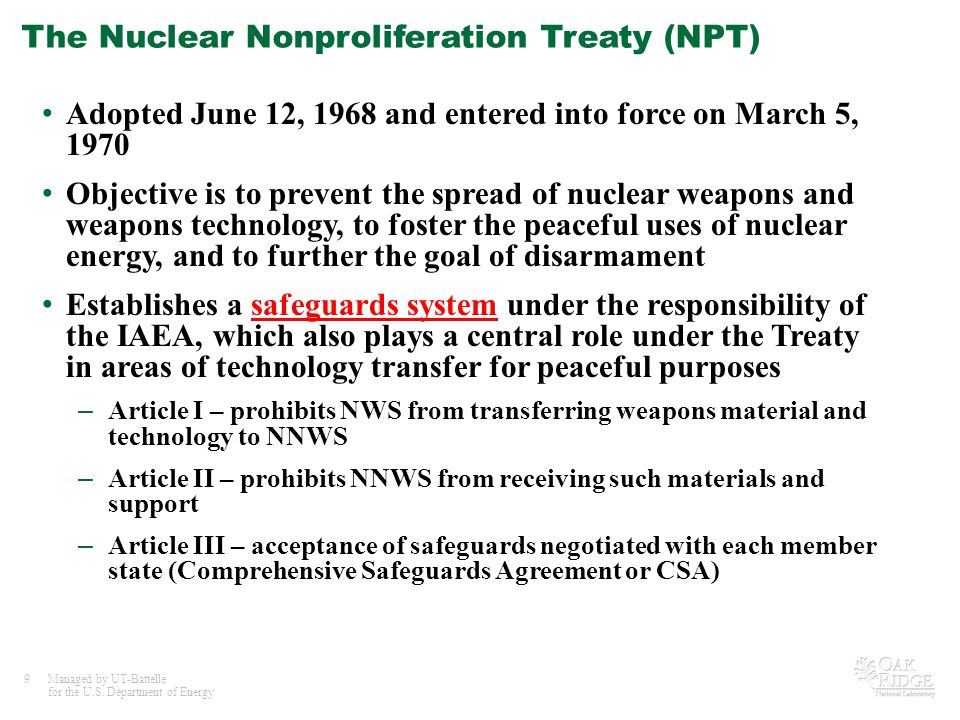 Peaceful Uses of Nuclear Technology